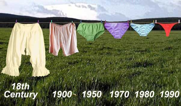 18th century pantaloons to 1990s briefs